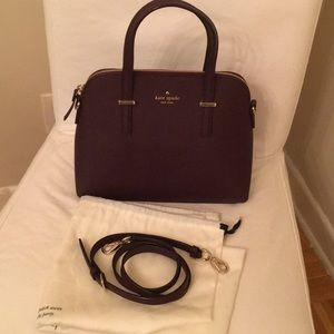 Kate spade satchel with strap Wine color
